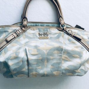 COACH MADISON SHANTUNG SHOPHIA SATCHEL